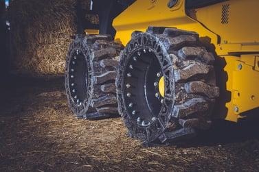 solid cushion skid steer tires