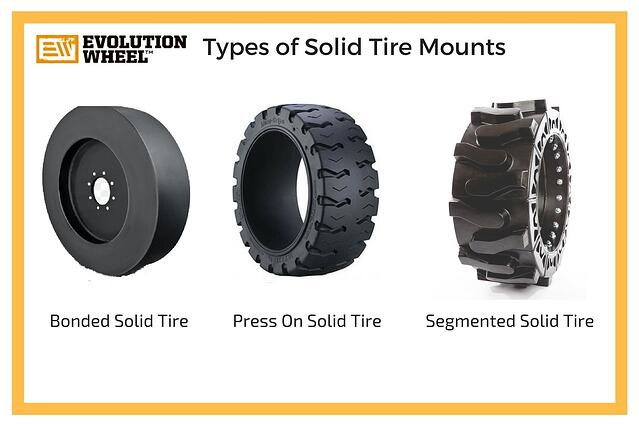 solid skid steer tire mounting types