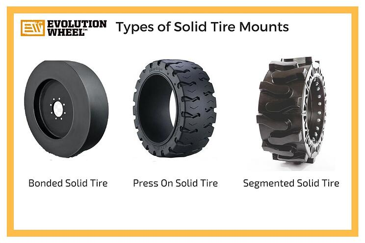 types of solid skid steer tires