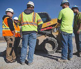 Solid Skid Steer Tire in Rock Quarry