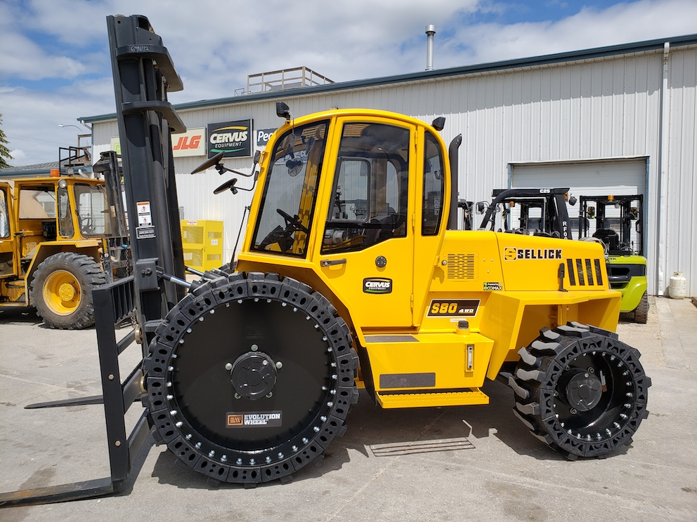 rough terrain forklift tires