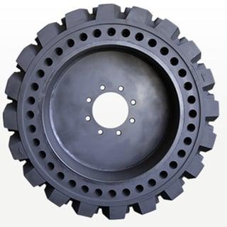 single aperture hole solid skid steer tire