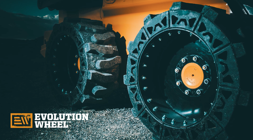 solid cushion skid steer tires